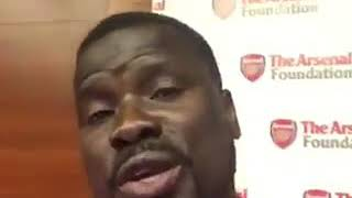Message by Emmanuel Eboue to Arsenal fans.He is back!