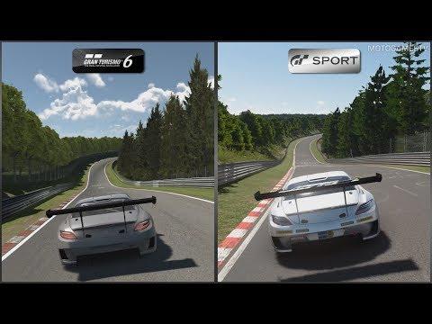 Gran Turismo 6 vs Gran Turismo Sport Beta - Mercedes-Benz SLS AMG GT3 at Nordschleife