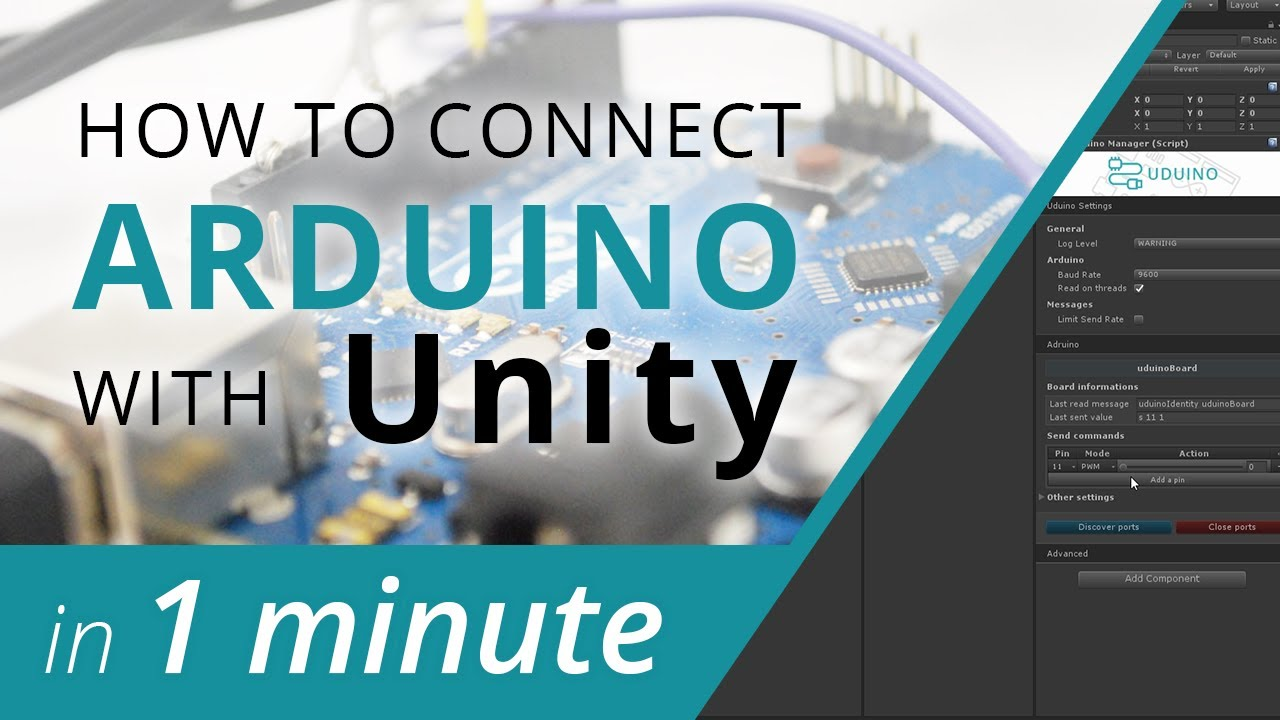 Connect arduino to unity in less than minute uduino