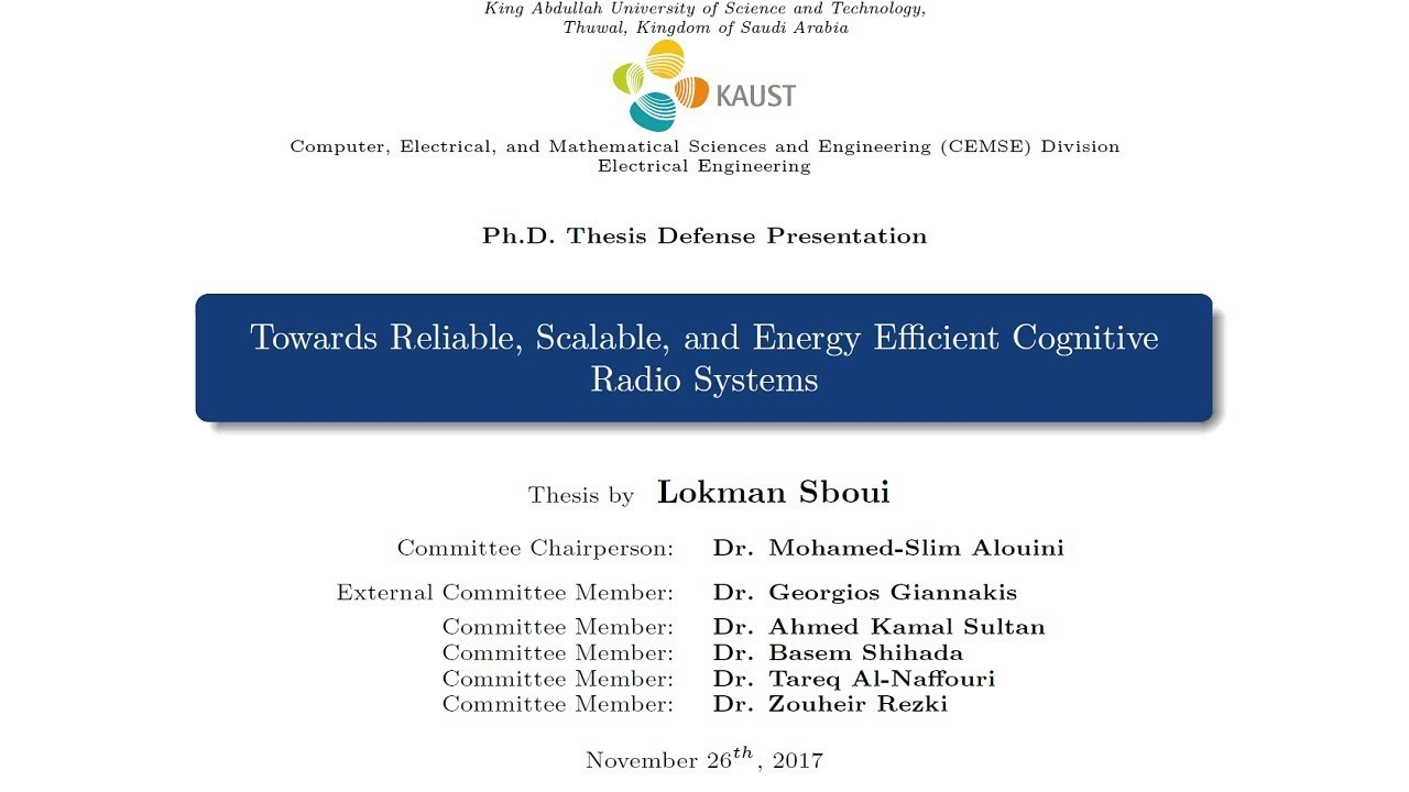 Phd thesis cognitive radio