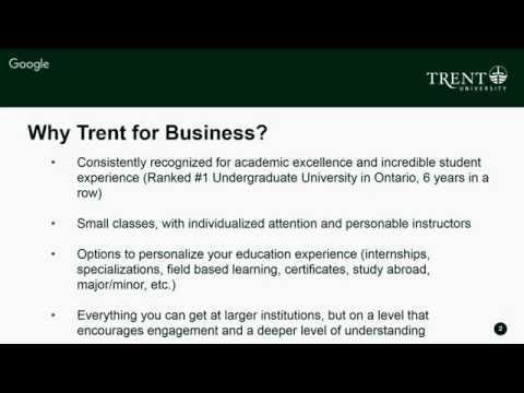 School of Business: The Trent Advantage Webinar