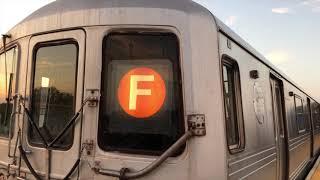 NYC Subway | R46 & R160 (F) Train Action @ Avenue P