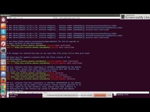Unable to edit /etc/apt/sources.list file