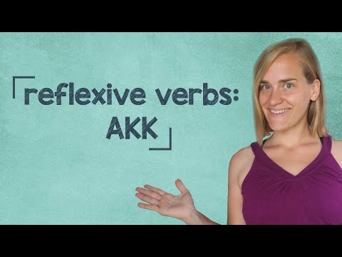 German Lesson (167) - Reflexive Verbs - Accusative - A2/B1