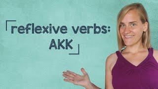 German Lesson (169) - Reflexive Verbs - Accusative - A2/B1