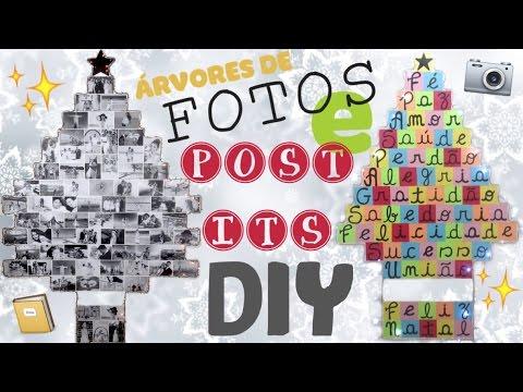 DIY ESPECIAL DE NATAL: Árvores de FOTOS e POST-ITS - Fácil e Barato | Vânia Maciel