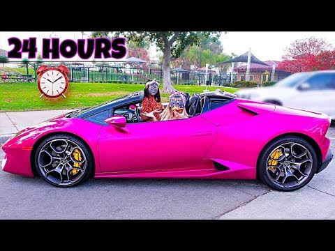 WE SPENT 24 HOURS IN A LAMBORGHINI - Challenge | Familia Diamond