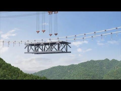 Construction begins on China's first railway suspension bridge