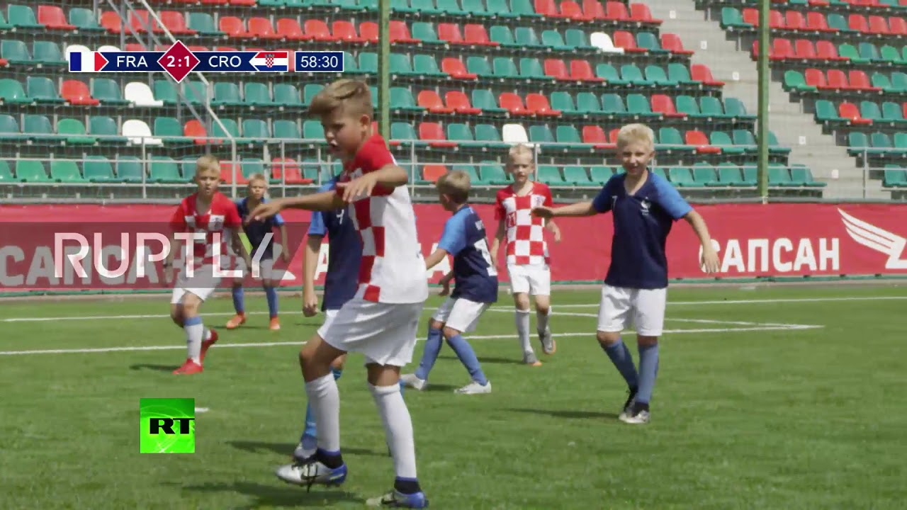 Download Final flourish! See Russian kids perform perfect re-enactment of WC final