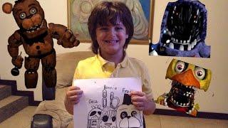 Cómo dibujar a Old Freddy, old Bonnie, y old Chica
