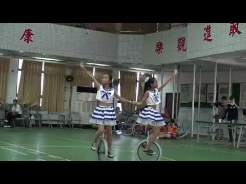 105 5 29桃園市獨輪車錦標賽國小高年級雙花第二名頂社羽雙'文馨 - YouTube