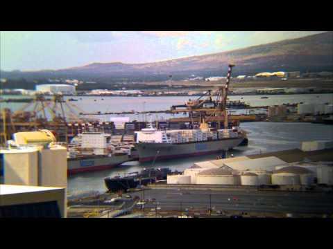Honolulu Harbor Container Crane