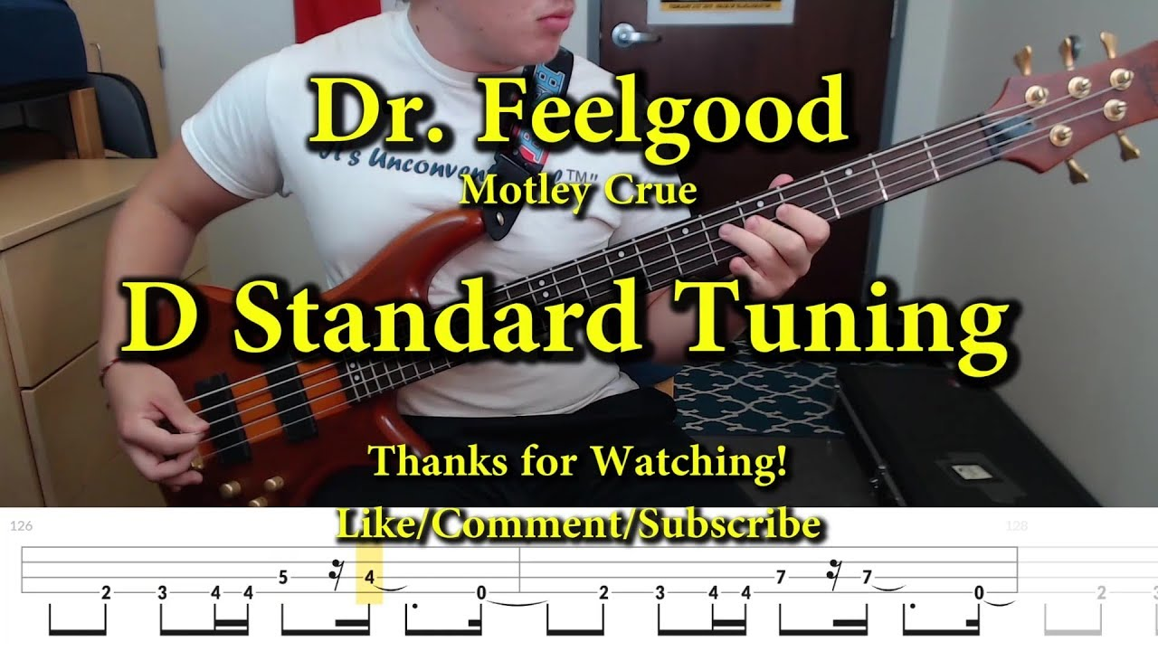 Dr Feelgood Motley Crue Bass Cover With Tabs Youtube