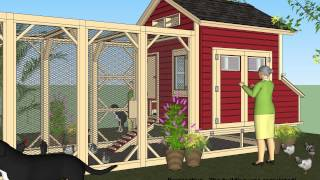 L102 - Chicken Coop Plans Construction - Chicken Coop Design - How To Build A Chicken Coop
