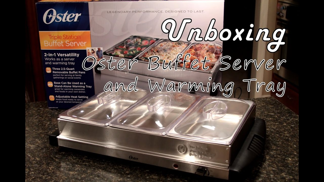 unboxing oster buffet server and warming tray bravo charlie s rh youtube com  oster 3 tray buffet warmer