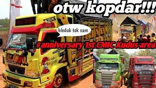 "Para truk truk mbois yang menghadiri acara ""CMIC KUDUS AREA anniversary 1st:"