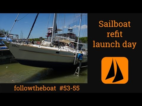 Esper Refit 53-55  -  launch day - drone footage; Dripless seal issues