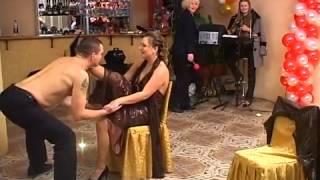 Приколы на свадьбе Танец с бананом