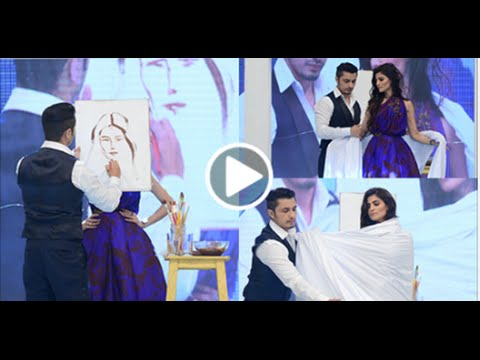 Ali Zafar Shows His Artistic And Creative Skills Live At Magnum Party By Sketching A Model Live on R