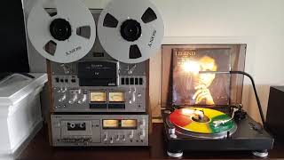 Sony TC 758 reel to reel and Sony TC 206 SD cassette player demo