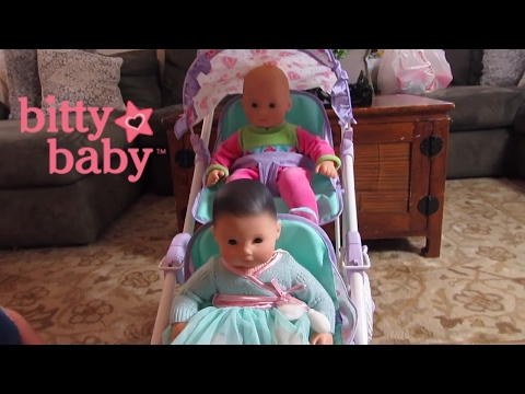 American Girl Bitty Baby Double Stroller Unboxing + Detail Video! Bitty Baby Dolls Go For A Stroll!