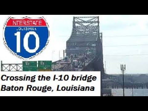 Crossing the Mississippi River, Baton Rouge, Louisiana