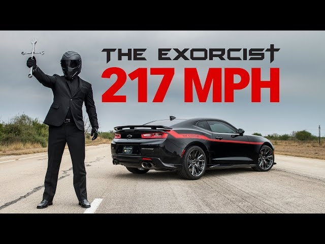 Watch Hennesseys Exorcist Camaro Unleash Its 217 Mph Top Speed