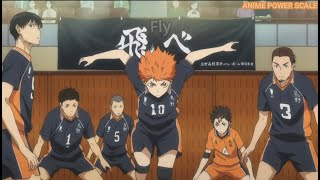 Haikyuu | Hinata shocks/impresses other characters with his jump/spiking abilities. (Season 1)