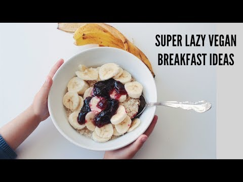 Super Lazy Vegan Breakfast Ideas!