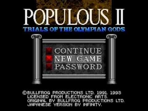 Populous II : Trials of the Olympian Gods (INTRO - SFC - 日本語版 - JAPANESE VERSION)