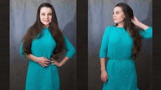 Марафон по вязанию простого платья/свитера спицами - часть 2 / Выкройка и расчеты. Вяжем спинку