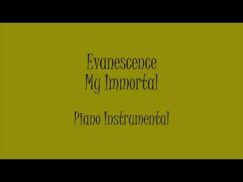 Evanescence - My Immortal (Piano Instrumental) Karaoke