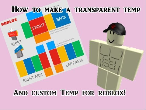 How to make a transparent roblox template and custom template - YouTube