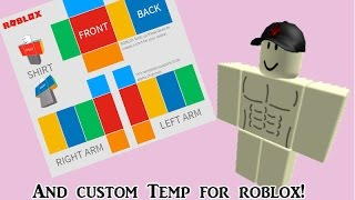 How to make a transparent roblox template and custom template