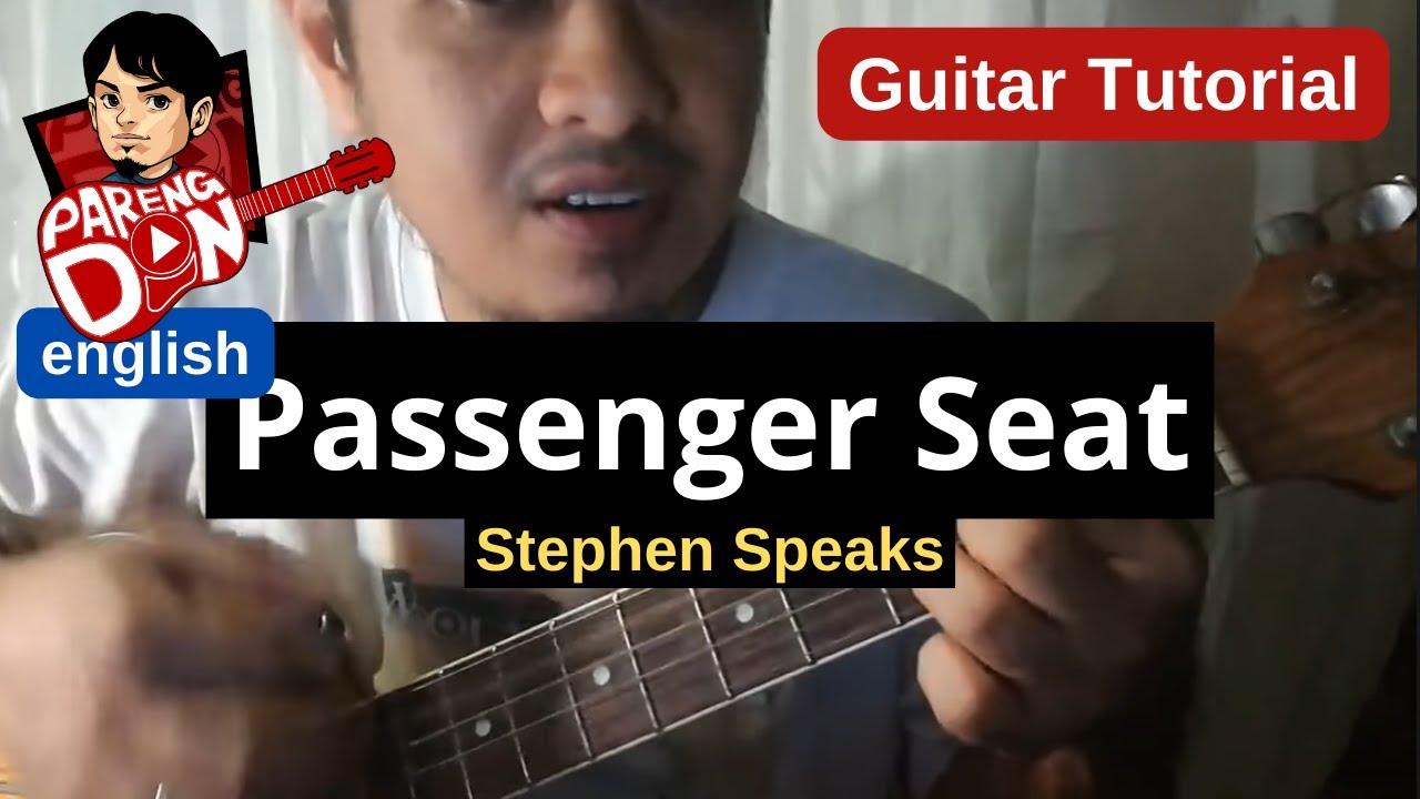 Guitar Tutorial Passenger Seat Stephen Speaks Chords Guitar