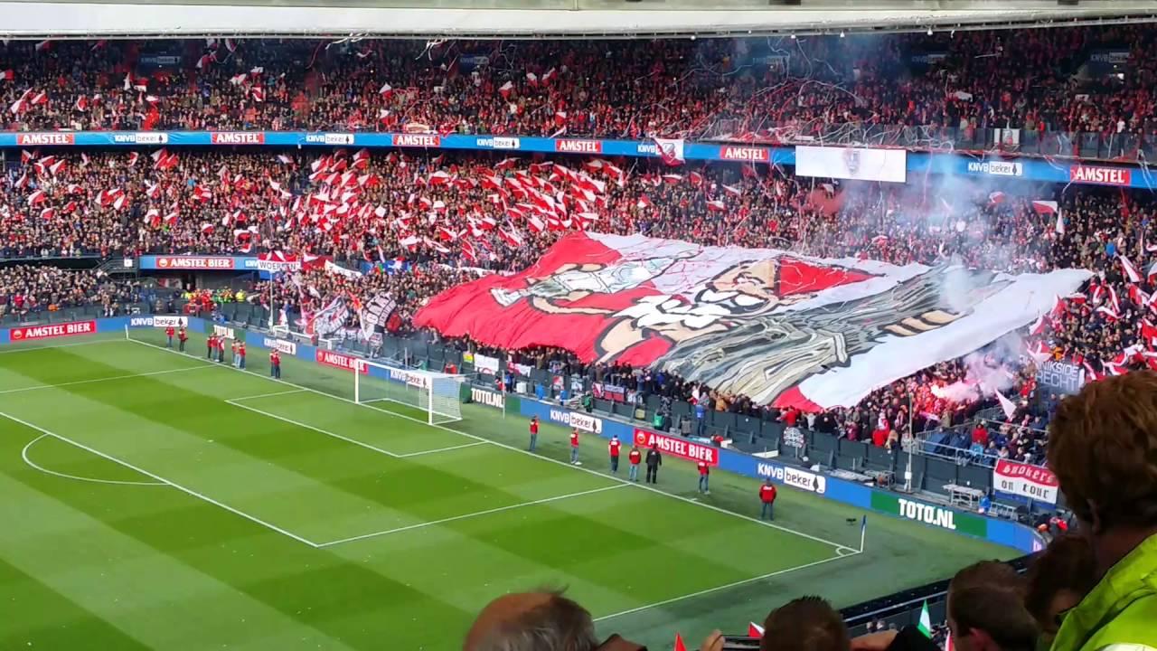 Opkomst Bekerfinale 24 4 2016 Feyenoord Fc Utrecht Youtube