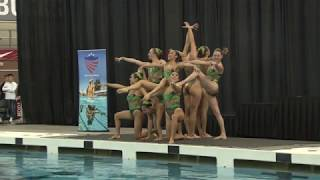 Stanford Synchronized Swimming team competes at 2017 Collegiate Nat...