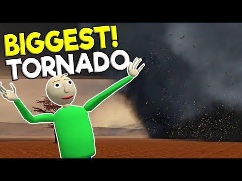 BIGGEST TORNADO DESTROYS WHOLE TOWN! - Garry's Mod Sandbox Gameplay - Gmod Tornado Survival
