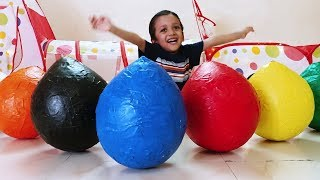 Learn Colors with Giant surprise eggs and cars   Learn Colors for kids  Learn with cucudu
