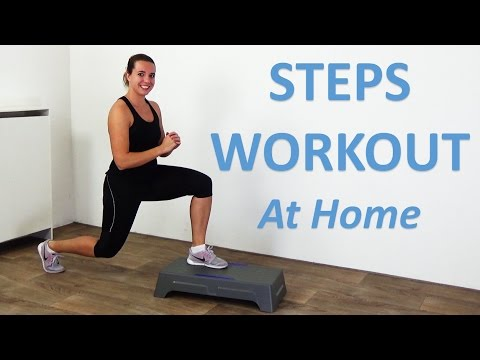 Step Workout - 20 Minute Stepper Workout Routine with Full Body Steps Exercises