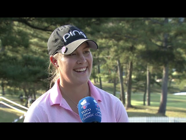 Jennifer Kupcho Second Round Interview at the 2019 TOTO Japan Classic