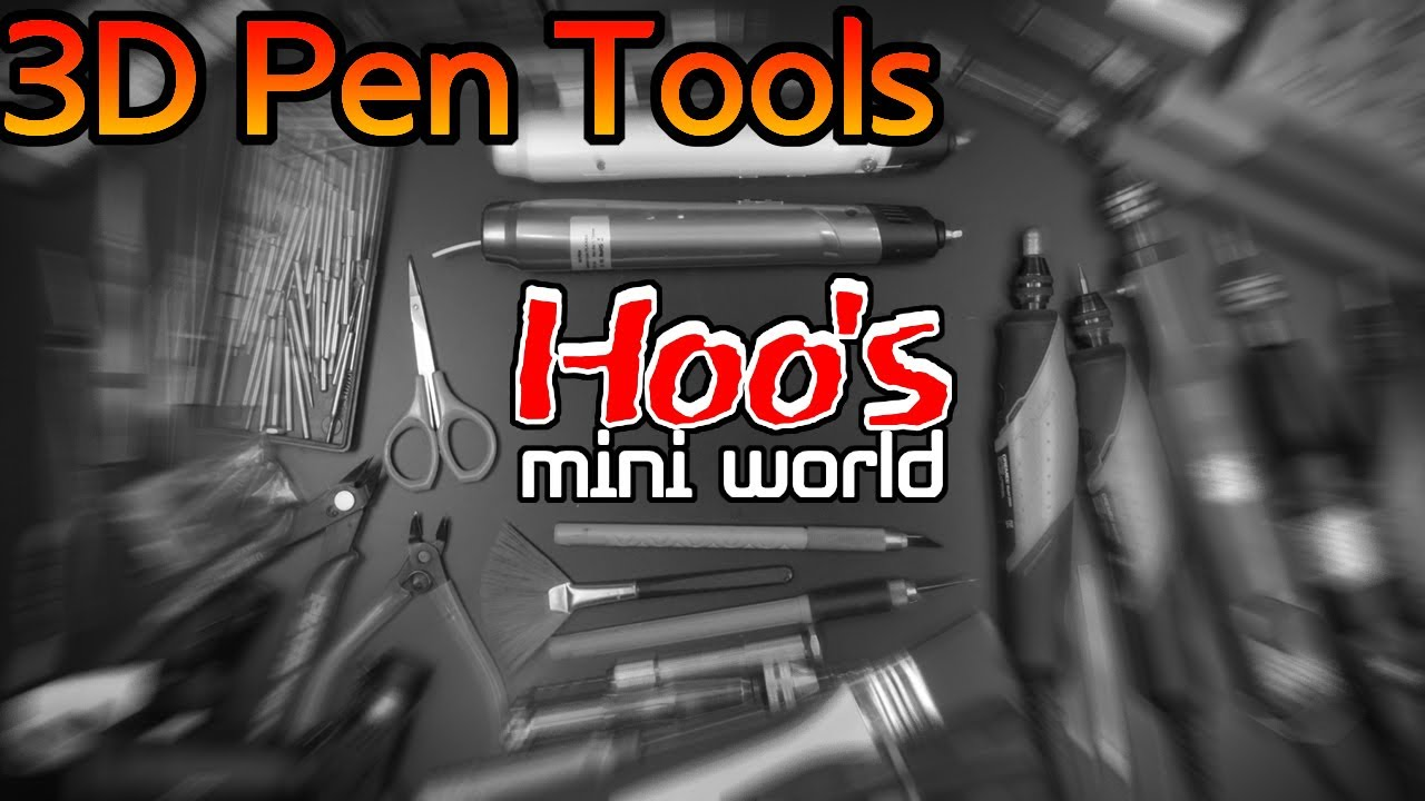 [3D pen] 전체 도구 소개. 3D pen Tools.[한국어자막, ENG SUB]