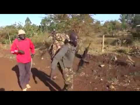 A Kenya Defence Forces recruit crying like a baby during training.