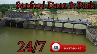 Preview of stream Sanford Dam and Park Area - Michigan - 24/7 HD Live Stream
