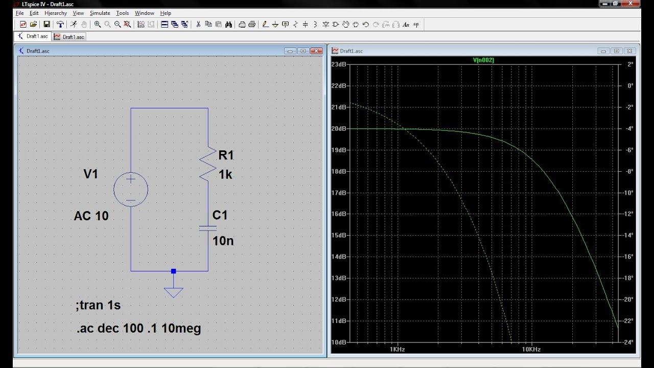 Tutorial Ltspice Aula 2 Anlises De Transiente E Ac Sweep Em Simulador Circuitos Circuit Simulator Divisor Tenso Frequncia