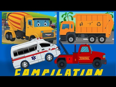 COMPILATION | Cars And Heavy Vehicles | kids videos | learn