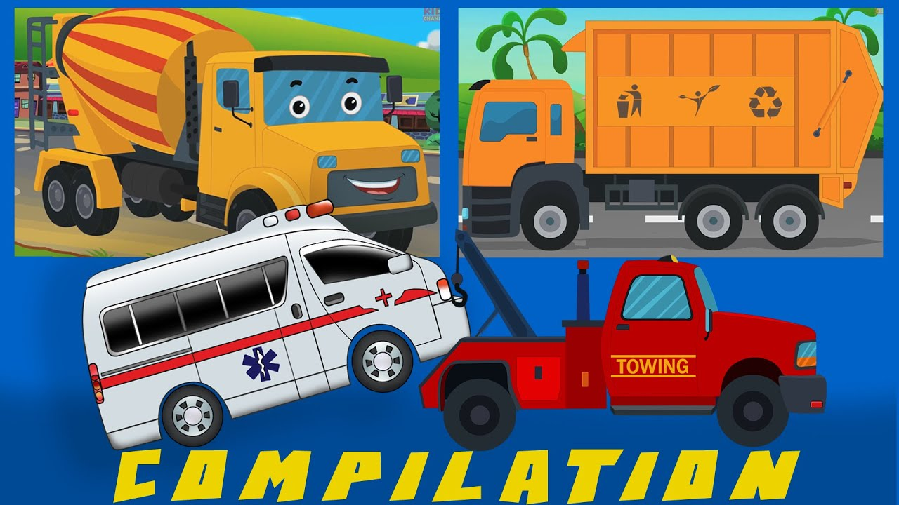 Cars And Heavy Vehicles | kids videos | learn street vehicles | COMPILATION