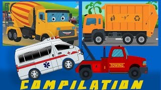 COMPILATION | Cars And Heavy Vehicles | kids videos | learn street vehicles thumbnail