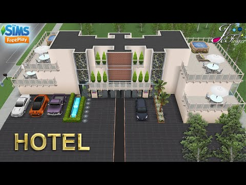 Sims FreePlay 🏙🏨 | CITY FINE HOTEL |  Tour and Live build | 🛠By Joy.