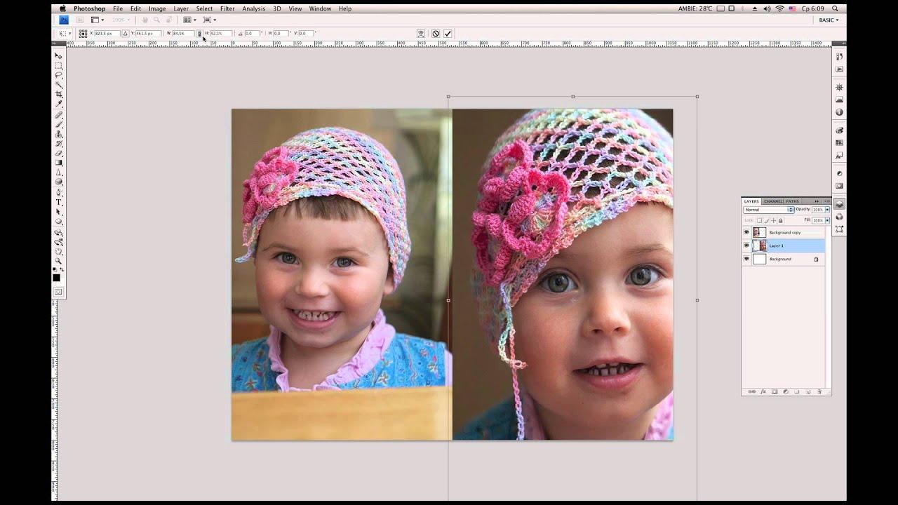 коллаж из 2 фото сделать